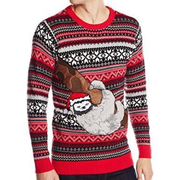 Blizzard Bay Mens Reindeer Monkey Ugly Christmas Sweater